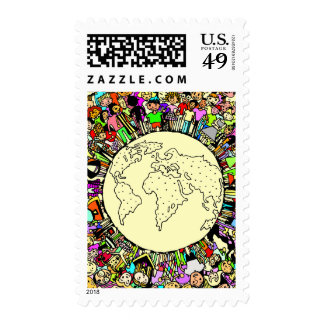 Children of the World Postage Stamp