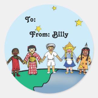 Children of the World Classic Round Sticker