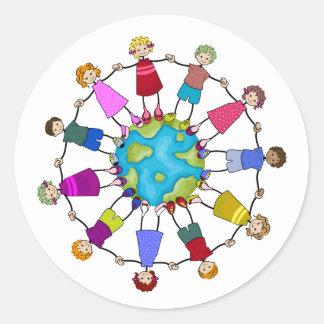 Children of the World Round Sticker