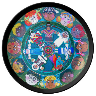 Children of The World ..with your color surround Porcelain Plates