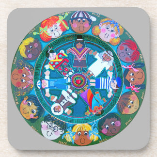 Children of The World..with Your Colors. Beverage Coaster