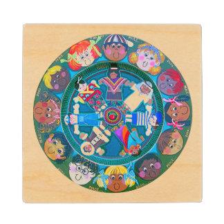 Children of The World Wooden Coaster