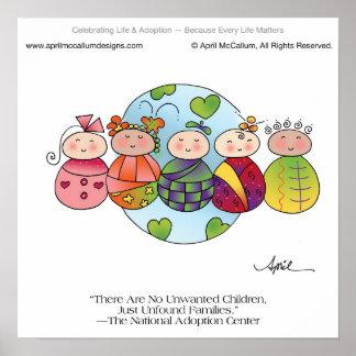 CHILDREN OF WORLD Print by April McCallum