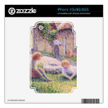 Children on a farm by Camille Pissarro Skin For iPhone 3GS