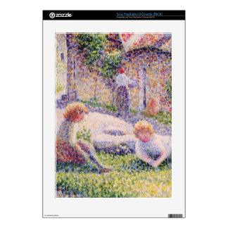 Children on a farm by Camille Pissarro Decal For PS3 Console