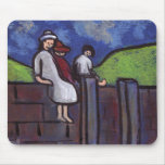 CHILDREN ON A WALL MOUSEPAD