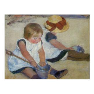 Children on The Beach, Mary Cassatt Postcard