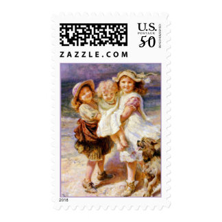 Children on the Beach Postage