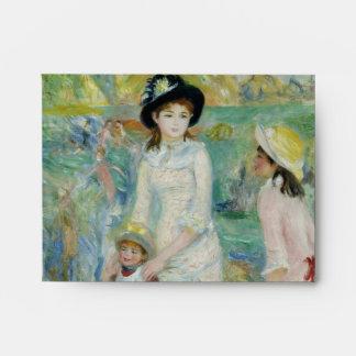 Children on the Seashore Guernsey by Renoir Envelope