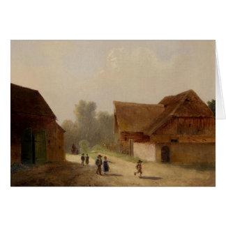 Children on the Way Home - Kinder am Heimweg Card