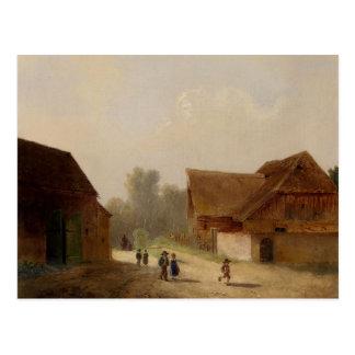 Children on the Way Home - Kinder am Heimweg Postcard