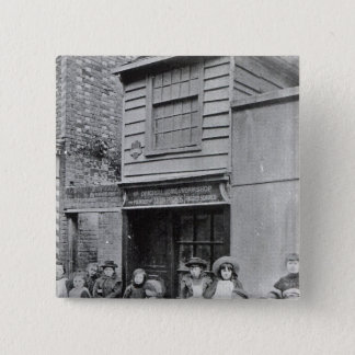 Children outside John Pounds's workshop Pinback Button