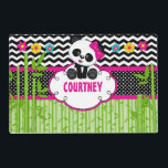 "Children Panda Bear Monogram Personalized Name Placemat<br><div class=""desc"">Children Panda Bear Monogram Personalized Name Designed by Tiffs Sweet Designs Clip art credit: Pixel paper prints</div>"
