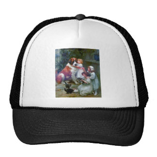 Children Pets Dog Cats Painting Hats