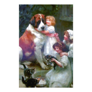 Children Pets Dog Cats Painting Stationery Paper