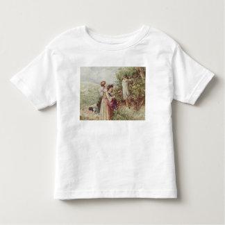 Children picking blackberries, 19th century toddler t-shirt