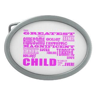 Children Pink Greatest Child Belt Buckle
