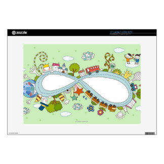Children Playing 2 Decal For Laptop