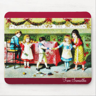 Children playing and eating in a dinner hall mouse pad