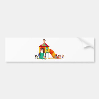 Children playing car bumper sticker