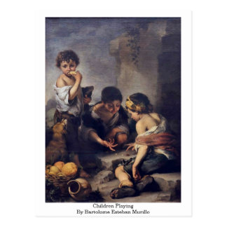 Children Playing By Bartolome Esteban Murillo Postcard