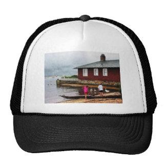 Children Playing by Harbor Essex CT Trucker Hat
