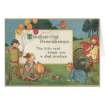 Children Playing In Field Card