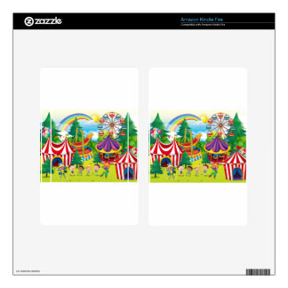Children playing in the circus kindle fire decal