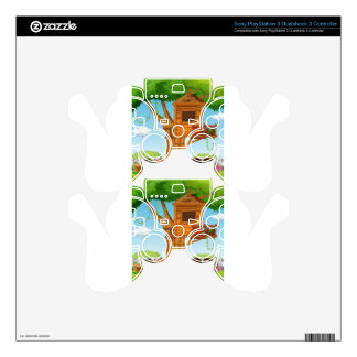 Children playing in the garden PS3 controller skins