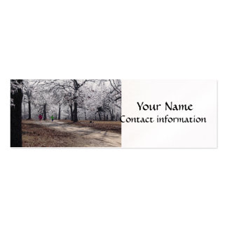 Children Playing in Winter Business Card