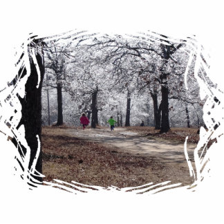 Children Playing in Winter Cut Out