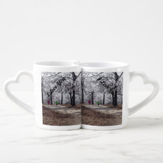 Children Playing in Winter Couples' Coffee Mug Set