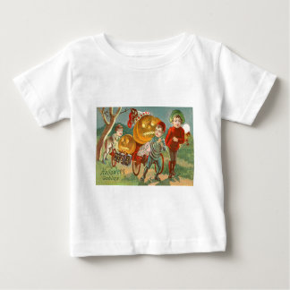 Children Playing Jack O Lantern Pumpkin Full Moon Baby T-Shirt