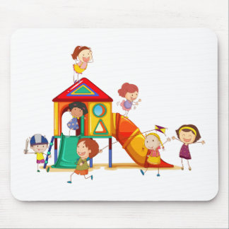 Children playing mouse pad