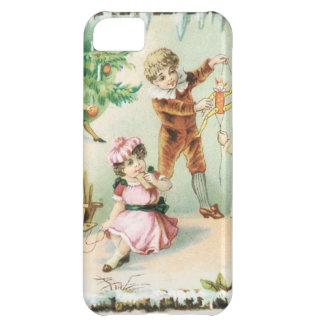 Children Playing on Christmas Case For iPhone 5C