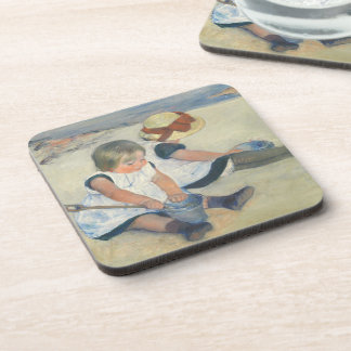 Children Playing on the Beach, 1884 Beverage Coaster