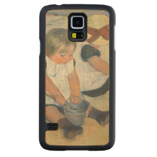 Children Playing on the Beach, 1884 Carved® Maple Galaxy S5 Case