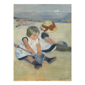 Children Playing on the Beach, 1884 Poster