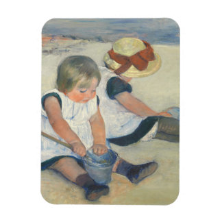 Children Playing on the Beach, 1884 Rectangular Photo Magnet