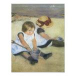 Children Playing on the Beach by Mary Cassatt Invite