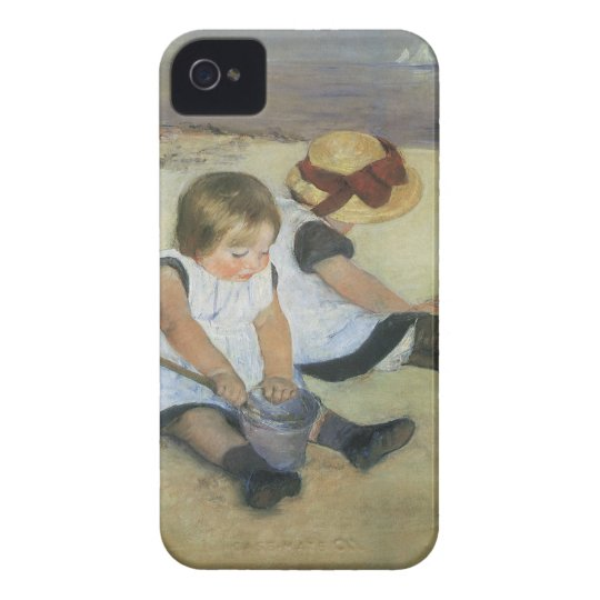 Children Playing on the Beach by Mary Cassatt iPhone 4 Case