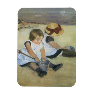 Children Playing on the Beach by Mary Cassatt Magnet