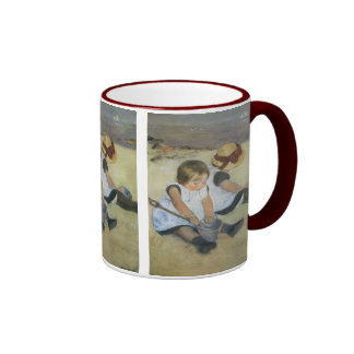 Children Playing on the Beach by Mary Cassatt Mugs
