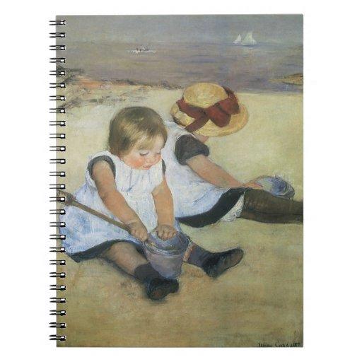 Children Playing on the Beach by Mary Cassatt Note Books