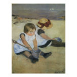 Children Playing on the Beach by Mary Cassatt Print