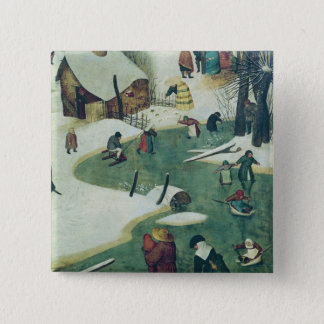 Children Playing on the Frozen River Button