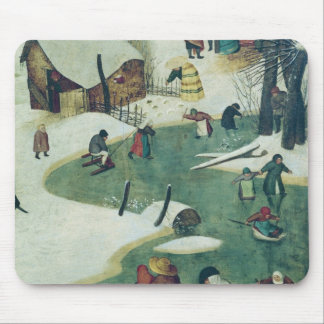 Children Playing on the Frozen River Mouse Pad