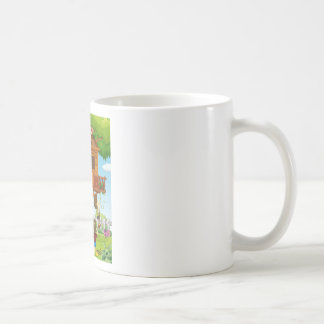 Children playing on the treehouse coffee mug