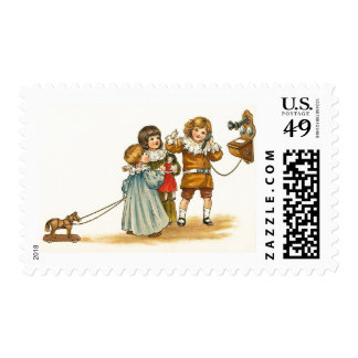 Children Playing Stamps