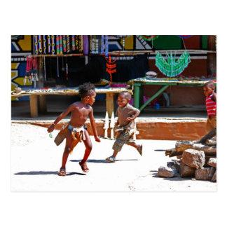 Children Playing Postcard